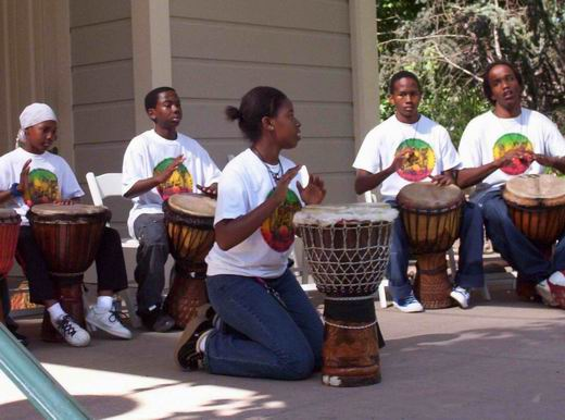 SDOUAE Performing in Oakland's Preservation Park at an Annual Gathering of African-American Historians