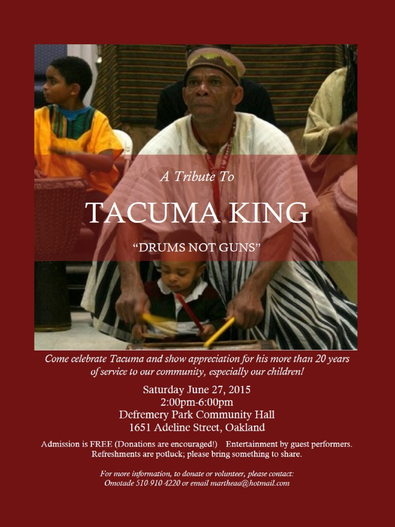ALL INVITED - Tacuma King Tribute - June 27, 2015!